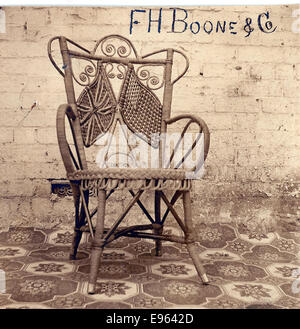 Example of the wicker chairs supplied by the American Fleet during their 1908 visit - Stock Photo