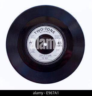The Beat - Tears Of A Clown 1979 7' vinyl single on Two Tone Records - Stock Photo