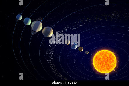 Asteroid Belt Stock Photo, Royalty Free Image: 56891831 ...