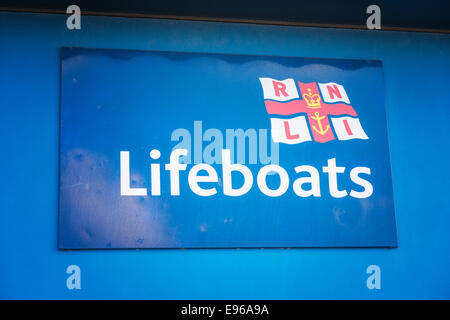 RNLI Lifeboats sign - Stock Photo