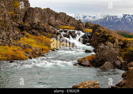 Thingvellir National Park in October - Stock Photo