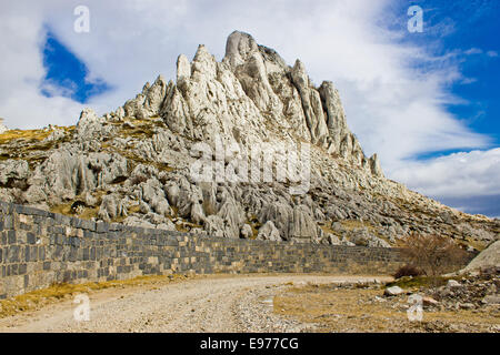 Tulove grede rocks on Velebit mountain - Stock Photo