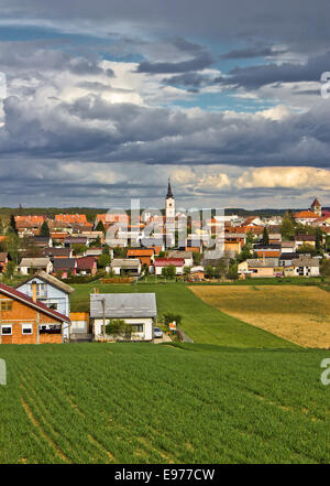 Colorful Town of Krizevci vertical view - Stock Photo
