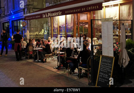 restaurant in chartres, france - Stock Photo