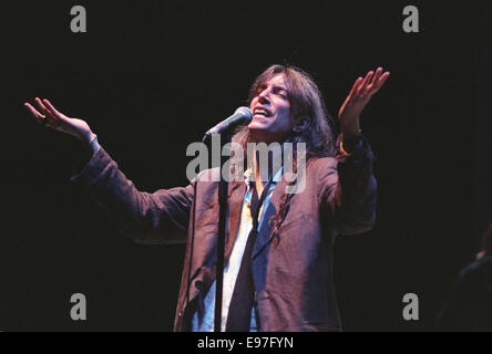 American poet singer Patti Smith in concert at Glasgow Royal Concert Hall, in Glasgow, Scotland, in 1996. - Stock Photo