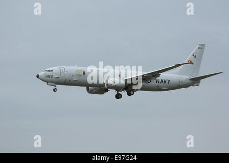 Boeing P-8A Poseidon coming into land at RAF Fairford for Royal International Air Tattoo 2014 - Stock Photo
