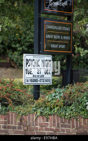 Psychic Night held in pub advert poster dead speak - Stock Photo