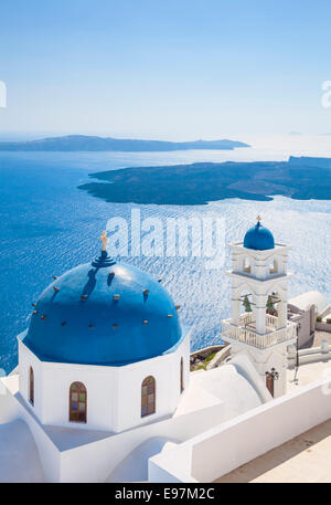 Anastasi Church at Imerovigli, Santorini, Thira, Cyclades Islands, Greek Islands, Greece, EU, Europe - Stock Photo