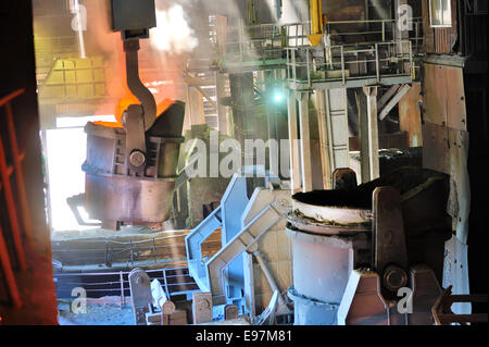 steel bucket to transport the molten metal in a metallurgical plant