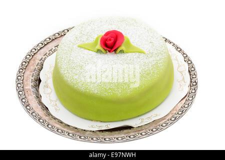 princess cake isolated on white background - Stock Photo
