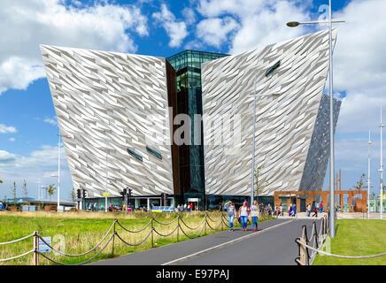 Titanic Belfast museum, Titanic Quarter, Belfast, Northern Ireland, UK - Stock Photo