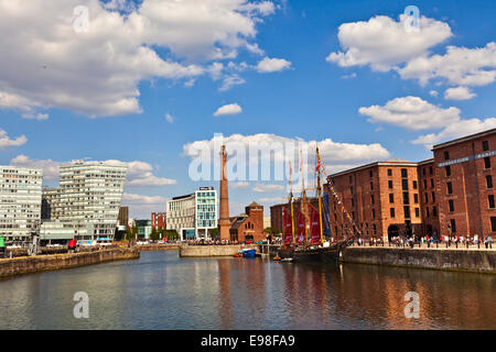 Cityscape of the Liverpool city centre which is the commercial, cultural, financial and historical heart of Liverpool, - Stock Photo
