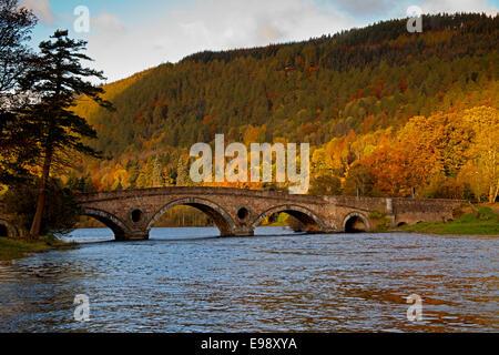 Kenmore Bridge over River Tay Perth Kinross Perthshire Scotland - Stock Photo