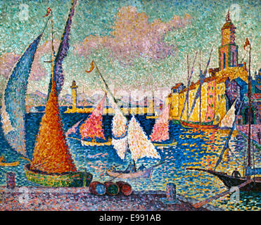 Saint Tropez, le quai ( the dock ) Paul Signac 1863-1935 France French - Stock Photo