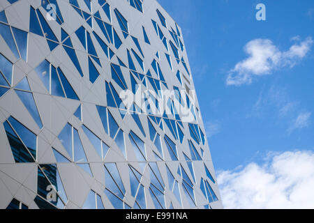 Norwegian modern buildings in a summer morning. Oslo, Ostlandet. Norwaym - Stock Photo