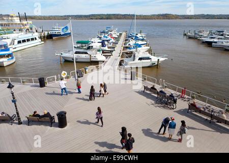 Old Town Alexandria waterfront - Virginia USA - Stock Photo