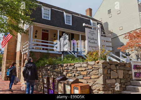 Old Town Alexandria visitors center - Virginia USA - Stock Photo
