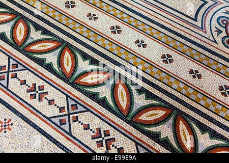 Abstract example of mosaic flooring in the Cathedreal Major, Marseille, France. - Stock Photo