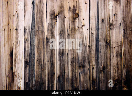 Close up of  wooden fence panels - Stock Photo