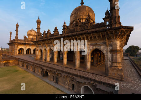 Ibrahim Roza Rauza Mausoleam Rear Angled - Stock Photo