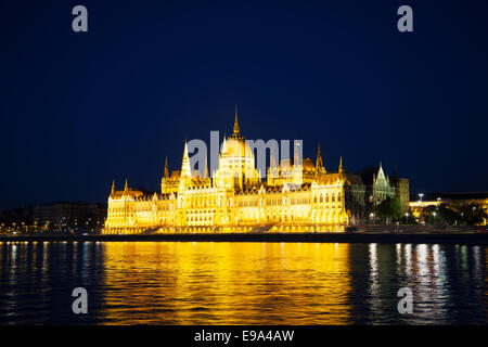Hungarian House of Parliament in Budapest - Stock Photo