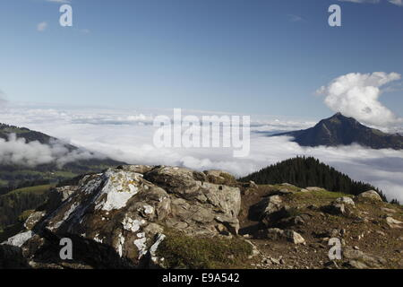 Hoernergroup Mountains, Gruenten view - Stock Photo