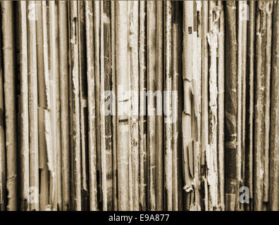 Close-up of a shelf with old magazines - Stock Photo
