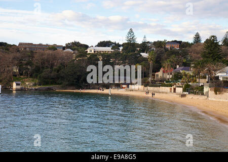 A view of Camp Cove Harbour Beach,  Watsons Bay, Sydney. - Stock Photo