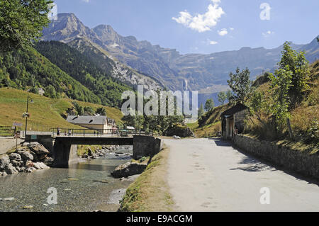 landscape, Gavarnie Falls, Pyrenees, France - Stock Photo