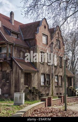 Krupp villa quarter in Duisburg, Germany - Stock Photo