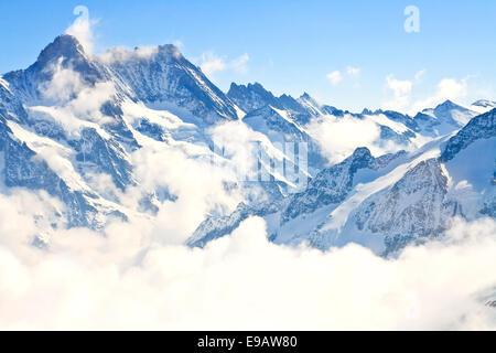 Jungfrau region in Swiss Alps, Switzerland - Stock Photo