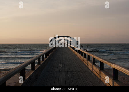 The Pier in Kellenhusen, Baltic Sea - Stock Photo