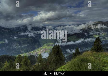 Ahorn Mountain, Zillertal valley, Tyrol, Austria - Stock Photo