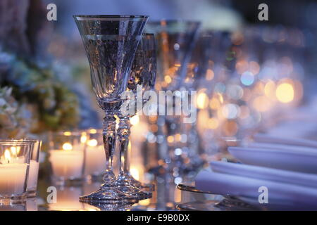 Table for the Royal Family, Salle des Etoiles, Gala Monaco Against Autism, Sporting Monte-Carlo, Principality of - Stock Photo