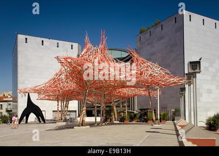 Musée d'Art Moderne et d'Art Contemporain, MAMAC, Museum of Modern and Contemporary Art, Nice, Provence-Alpes-Côte - Stock Photo