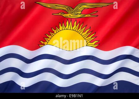 The flag of Kiribati - Stock Photo