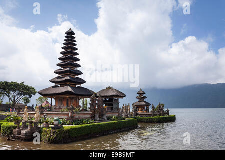 [Pura Ulun Danu Bratan] temple, Bali, Indonesia - Stock Photo