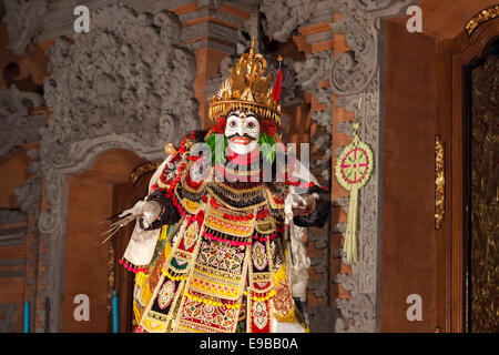 [Jauk Dance], traditional Balinese [mask dance], [Ubud Palace], Bali, Indonesia - Stock Photo