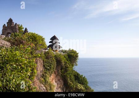 [Uluwatu temple], [cliff top] sea view, Bali, Indonesia - Stock Photo