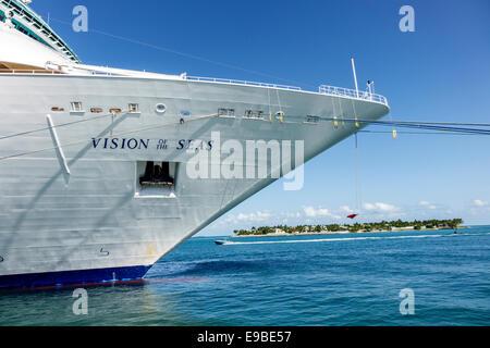Florida Key West Westin Key West Resort & Marina Vision of the Seas Royal Caribbean Lines RCL cruise ship port water - Stock Photo