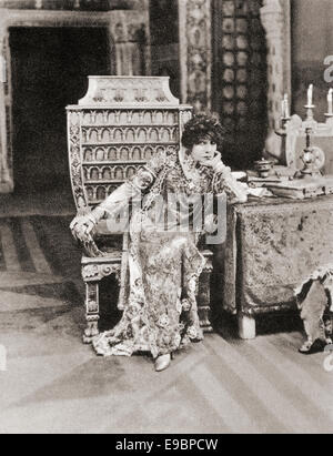Sarah Bernhardt, 1844 – 1923.  French stage and early film actress. - Stock Photo