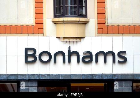 London, England, UK. Bonhams auction house 101 New Bond Street - Stock Photo