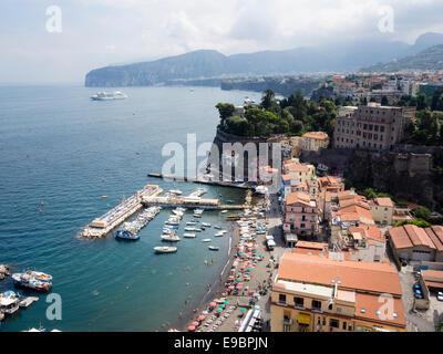Marina Grande in Sorrento Italy - Stock Photo