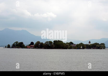 The Fraueninsel, an island on the Chiemsee, Bavaria, Germany. - Stock Photo