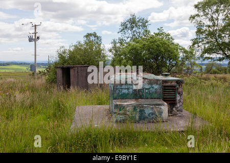 Royal Observer Corps Post entrance shaft and Orlit A - Stock Photo