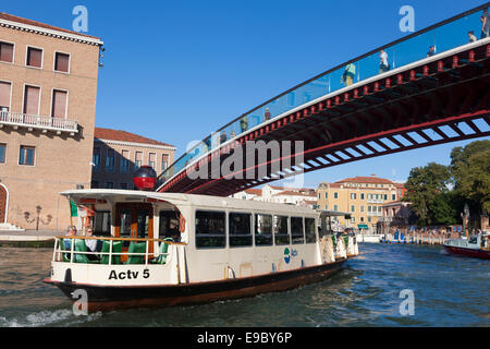 Constitution bridge, Venice, Veneto, Italy - Stock Photo