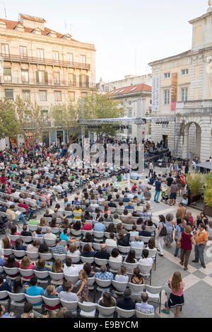 On October 4, EGEAC celebrates World Music Day tracing a sound map in the heart of Lisbon. This is the 7th edition - Stock Photo