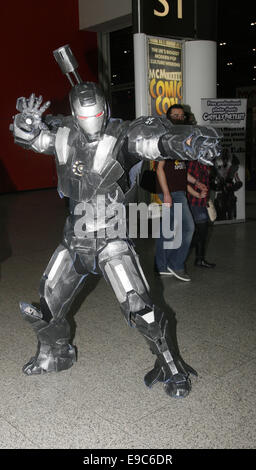 London, UK. 24th Oct, 2014. Enthusiasts in costume attend October's London MCM Comic Con expo at the Excel Centre, - Stock Photo