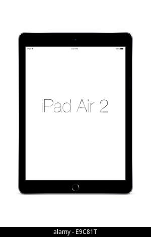 Tablet ipad air 2 space gray, digitally generated artwork. - Stock Photo