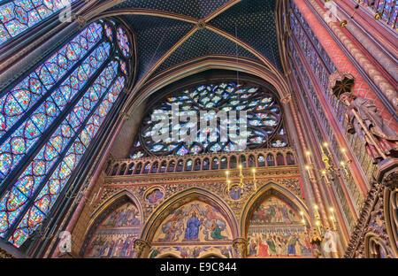 Holy Chapel  (Sainte-Chapelle) in  Paris. - Stock Photo